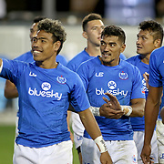 Manu Samoa went on a thank you tour of Avaya Stadium after their victory over Fiji 26-14 to secure 5th place at the innaugural Silicon Valley 7's, in San Jose, California, USA.  Photo by Barry Markowitz, 11/6/17, 7:13pm