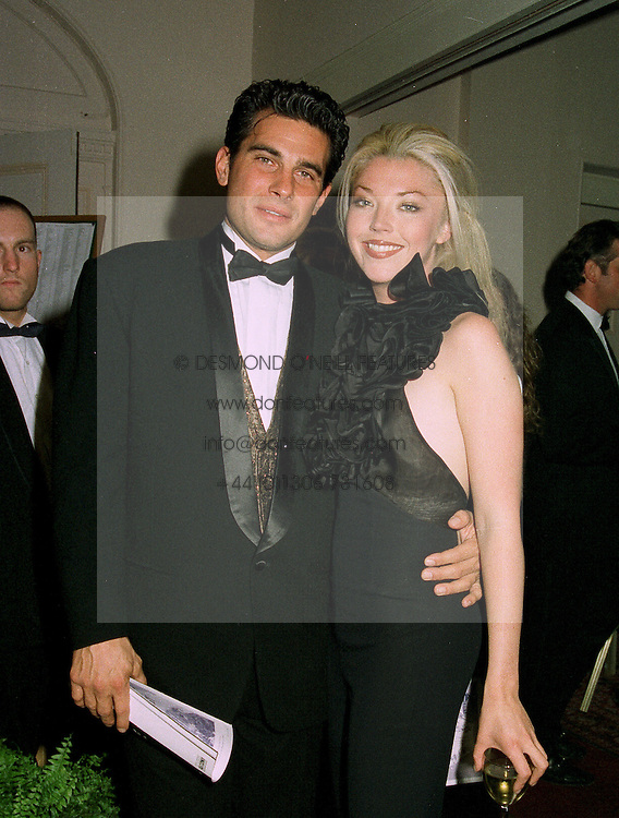 MISS TAMARA BECKWITH and MR RICHARD STEINMETZ, at a ball in London on 22nd May 1997.LYO 57