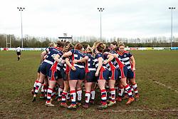 Bristol Ladies huddle - Rogan Thomson/JMP - 15/01/2017 - RUGBY UNION - Cleve RFC - Bristol, England - Bristol Ladies Rugby v Richmond WRFC - RFU Women's Premiership.