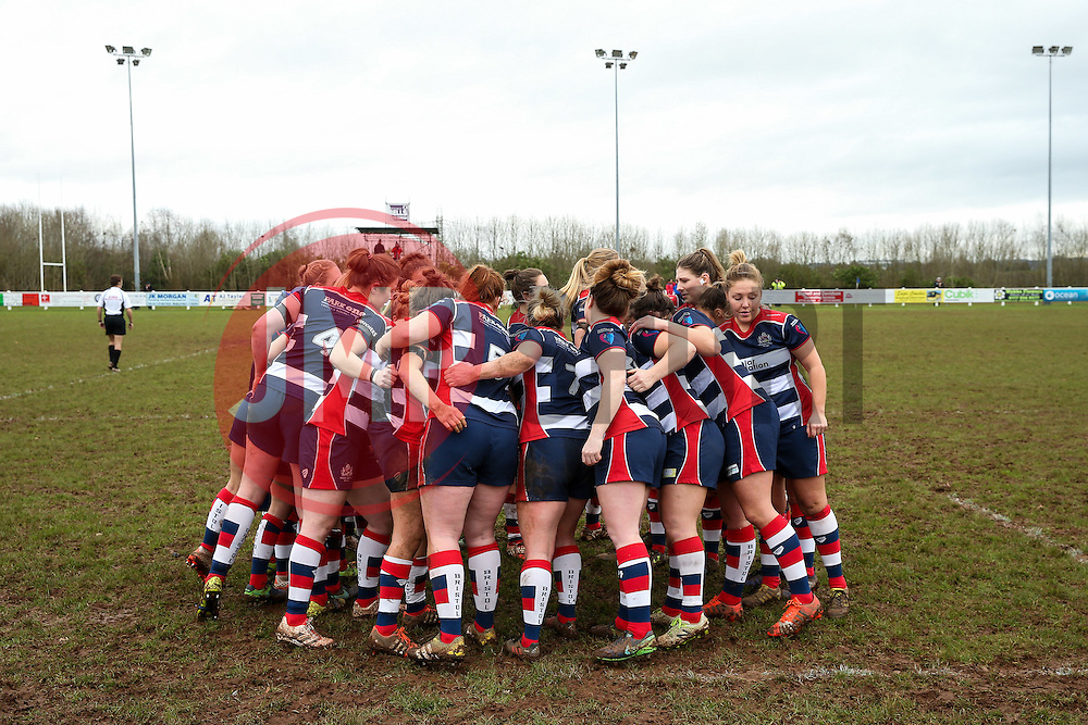 Bristol Ladies huddle - Rogan Thomson/JMP - 15/01/2017 - RUGBY UNION - Cleve RFC - Bristol, England - Bristol Ladies Rugby v Richmond WRFC - RFU Women's Premiership.