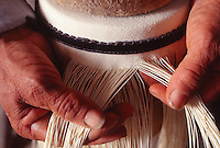 making Panama Hats in Ecuador