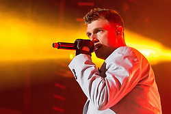 © Licensed to London News Pictures . 05/04/2014 . Manchester , UK . Nick Carter . The Backstreet Boys play at the Phones4U Arena in Manchester this evening (Saturday 5th April 2014) . Photo credit : Joel Goodman/LNP