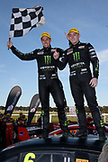Cameron Waters & Richie Stanaway (Monster Ford) winners of the Wilson Security Sandown 500. 2017 Virgin Australia Supercars Championship Round 10. Sandown International Raceway, Melbourne 17 September 2017. Photo Clay Cross / photosport.nz
