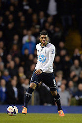 Tottenham's Paulinho  - Photo mandatory by-line: Mitchell Gunn/JMP - Tel: Mobile: 07966 386802 02/03/2014 - SPORT - FOOTBALL - White Hart Lane - London - Tottenham Hotspur v Cardiff City - Premier League