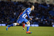 Beram Kayal scores for Brighton on his debut during the Sky Bet Championship match between Brighton and Hove Albion and Nottingham Forest at the American Express Community Stadium, Brighton and Hove, England on 7 February 2015.