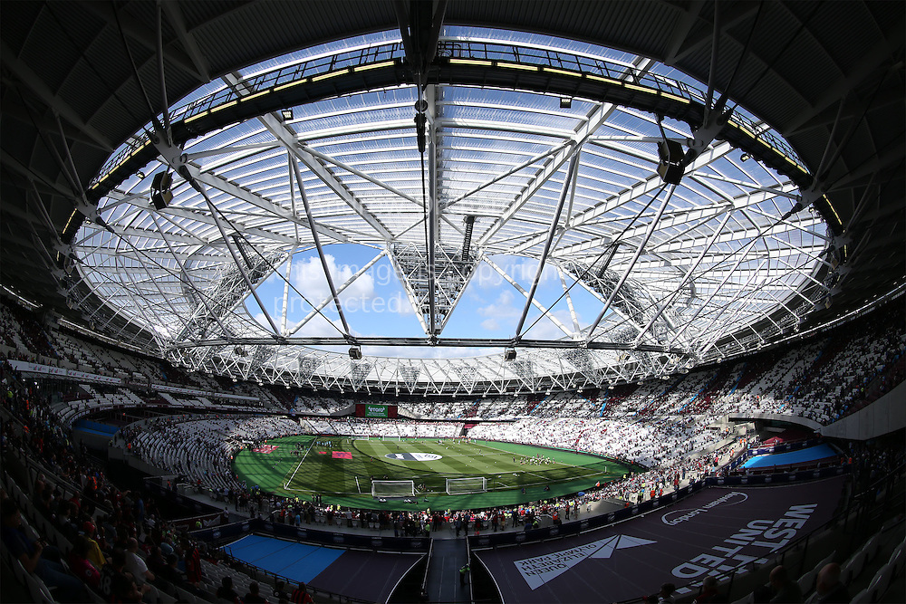 a General view of inside the London Stadium before k/o. Premier league match, West Ham Utd v AFC Bournemouth at the London Stadium, Queen Elizabeth Olympic Park in London on Sunday 21st August 2016.<br /> pic by John Patrick Fletcher, Andrew Orchard sports photography.