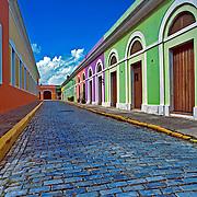 Old San Juan street.San Juan, Puerto Rico