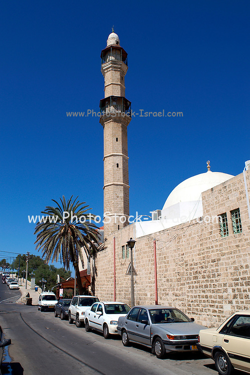 Muhamidiya mosque - great mosque, Jaffa, Israel is situated Between Yefet Street, Olei Tzion and the sea