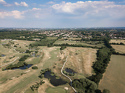 The Shires London golf course near Barnet appears to be in need of some rainfall as the summer heatwave continues in London. Barnet, North London, July 05 2018.