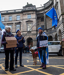 Pictured: Rescue dog Jack waited with baited breath for the news from the court<br />
