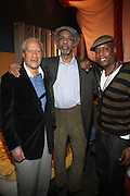 l to r: Gary Bartz, Gil Scott-Heron and Talib Kweli backstage at The National Black Writers Conference Concert Presents Gil Scott Heron, Talib Kweli & Gary Bartz Produced by Jill Newman Productions and held at Littlefield on March 27, 2010 in Brooklyn, New York. Terrence Jennings/Retna, Ltd..**exclusive**
