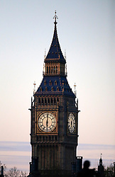 UK ENGLAND LONDON 18APR16 - View of the Big Ben clock tower of the Palace of Westminster, seen from Whitehall during sunrise.<br /> <br /> jre/Photo by Jiri Rezac<br /> <br /> <br /> <br /> © Jiri Rezac 2016