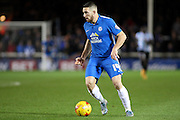 Peterborough United forward Conor Washington on the ball during the Sky Bet League 1 match between Peterborough United and Shrewsbury Town at the ABAX Stadium, Peterborough, England on 12 December 2015. Photo by Aaron Lupton.