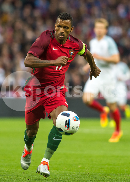 Nani of Portugal in action during the International Friendly match between England and Portugal at Wembley Stadium, London, England on 2 June 2016. Photo by Vince  Mignott.