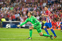Atletico de Madrid's player Kevin Gameiro and Bayern Munich's player Manuel Neuer during match of UEFA Champions League at Vicente Calderon Stadium in Madrid. September 28, Spain. 2016. (ALTERPHOTOS/BorjaB.Hojas)