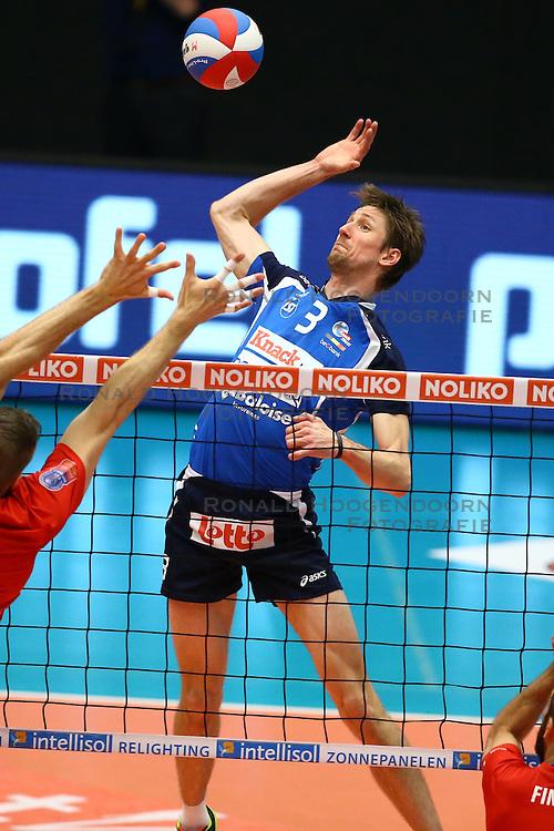 20160505 BEL: Volleybal: Noliko Maaseik - Knack Roeselare, Maaseik  <br />Joppe Paulides