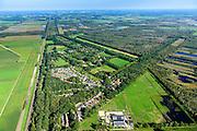 Nederland, Noord-Brabant, Gemeente Deurne, 23-08-2016; Griendtsveen, dorp in het hoogveengebied van de Peel, grens met Deurnsche Peel. Kanaal van Deurne.<br /> Region of the Peel, former peat bog.<br /> aerial photo (additional fee required); <br /> luchtfoto (toeslag op standard tarieven);<br /> copyright foto/photo Siebe Swart