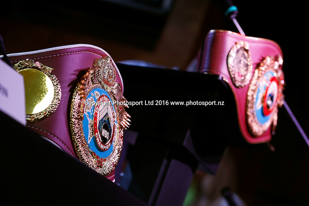 Final press conference before the December 10, Parker v Ruiz, WBO world boxing heavyweight title fight. Rec Bar, Auckland. 8 December 2016 / www.photosport.nz