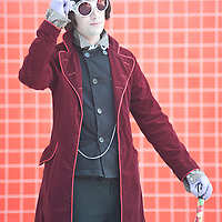 London, UK - 26 May 2013: Dan Rolf dressed as Willy Wonka of the Chocolate Factory poses for a picture during the London Comic Con 2013 at Excel London. London Comic Con is the UK's largest event dedicated to pop culture attracting thousands of artists, celebrities and fans of comic books, animes and movie memorabilia.