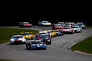 August 17-19 2018: IMSA Weathertech Michelin GT Challenge at VIR. Start of the IMSA GT Challenge led by 67 Ford Chip Ganassi Racing, Ford GT, Ryan Briscoe, Richard Westbrook