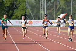 03/08/2017; Oliveira, Suelen, T37, BRA, Leikis, Libby, NZL, Yoshikawa, Kotomi, JPN, Carr, Amy, GBR at 2017 World Para Athletics Junior Championships, Nottwil, Switzerland