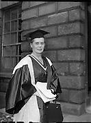Degrees at TCD - Ninette deValois (director of the Sadler's Wells Ballet School) receives Honorary Degree..04/07/1957