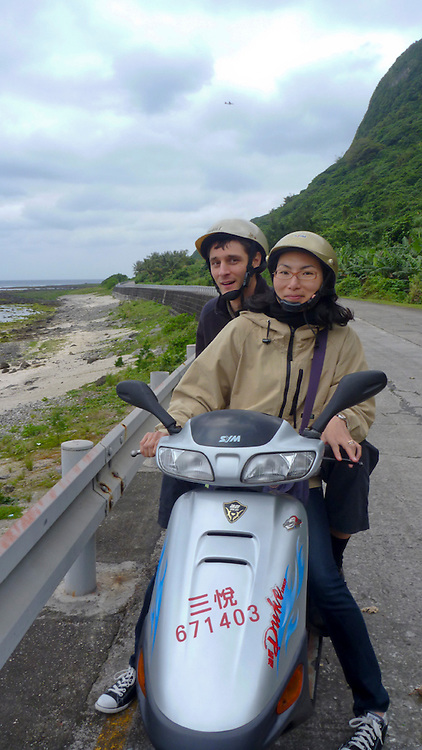 On Green Island, a former prison island off the coast of SE Taiwan where political prisoners were incarcerated and re-educated during the unnervingly recent White Terror. There's actually still a high-security prison on the island, but it only holds 200 inmates (actual felons, not polital prisoners), as opposed to the couple thousand of earlier decades..Now it's mostly a tourist destination. We visited in the off season in March, thereby avoiding the 5,000-10,000 tourists that inundate the little place daily, though, being the off season, we had to contend instead with intermittent cold rain and high winds.