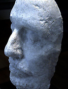 Cast of the death mask of Oliver Cromwell (1599–1658), Lord Protector of England, Scotland and Ireland 1653–58, great-great nephew of Thomas Cromwell