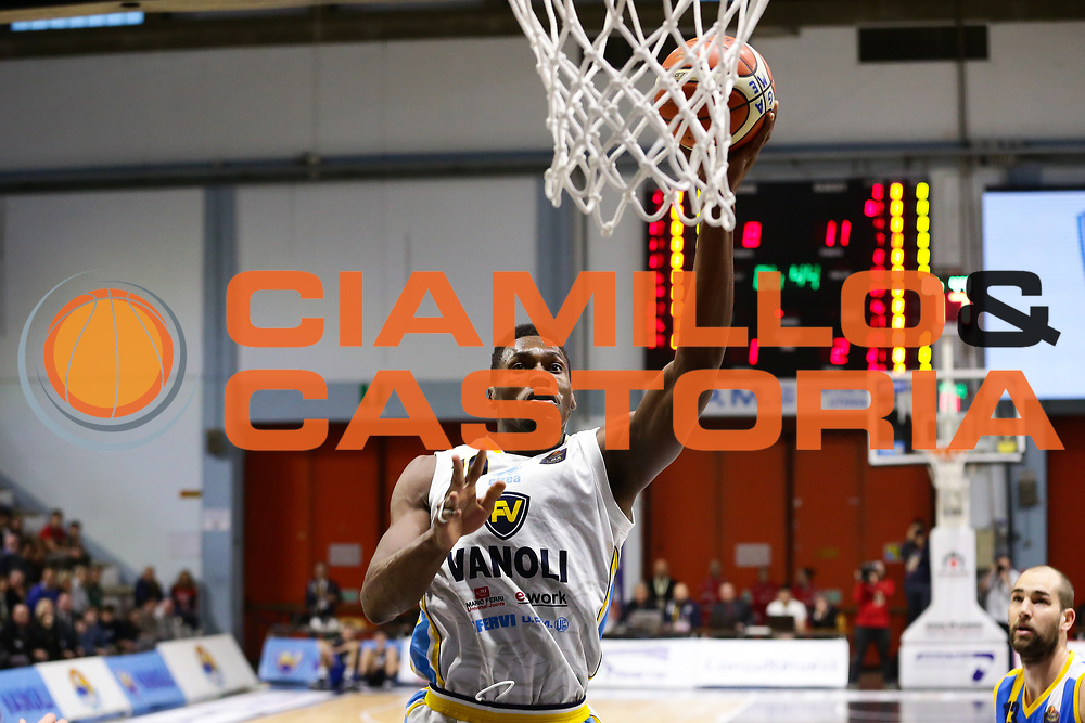 Biligha Paul Stephan<br /> Vanoli Cremona - Betaland Capo D Orlando<br /> Lega Basket Serie A 2016/2017<br /> Cremona 12/03//2017<br /> Foto Ciamillo-Castoria / M. Brondi