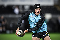 Sam Davies of Ospreys during the pre match warm up<br /> <br /> Photographer Craig Thomas/Replay Images<br /> <br /> Guinness PRO14 Round 4 - Ospreys v Benetton Treviso - Saturday 22nd September 2018 - Liberty Stadium - Swansea<br /> <br /> World Copyright © Replay Images . All rights reserved. info@replayimages.co.uk - http://replayimages.co.uk