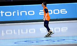 13-02-2006 SCHAATSEN: OLYMPISCHE WINTERSPELEN: 500 METER HEREN: TORINO<br /> 500 meter sprint man - Jan Bos<br /> ©2006-WWW.FOTOHOOGENDOORN.NL *** Local Caption ***