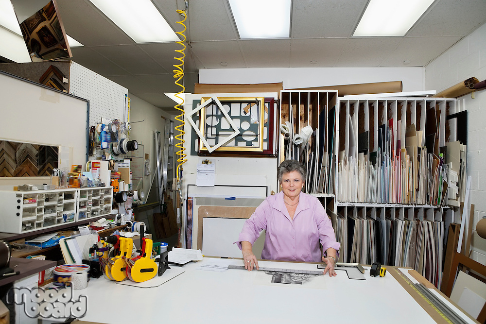 Portrait of a senior owner in workshop