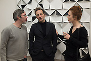 JEROME DECOCK; MANUEL ABENDROTH; ELS VERMANG; ; , LAb(au) calculations, permutations, notations, leading artists of Lumiere London. The Mayor Gallery in conjunction with Art Bermondsey Project Space,  Sponsored by Olympus. Bermondsey St. London, SE1, 12 January 2016