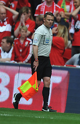 Stuart Burt, Referee, Linesman, Middlesbrough v Norwich, Sky Bet Championship, Play Off Final, Wembley Stadium, Monday  25th May 2015