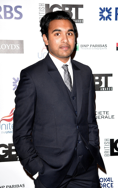Himesh Patel attends The British LGBT Awards at The Landmark Hotel, London on Friday 24 April 2015