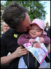 David Cameron Campaigning with his Daughter Florence