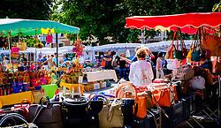 Market stalls in Honfleur, Normandy, France