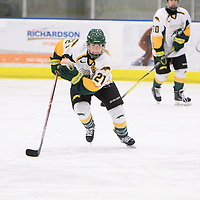 5th year forward Kylee Kupper (21) of the Regina Cougars in action during the Women's Hockey home game on November 18 at Co-operators arena. Credit: Arthur Ward/Arthur Images
