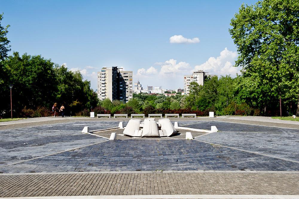 Piazza anticedente Tito Mausoleo, Belgrado, Serbia, 2012