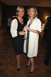 Left to right, ALIKI BOOTHBY and the HON.MRS CHARLES JAMES at an auction in aid of The Parkinson's Appeal for Deep Brain Stimulation 'Meeting of Minds' held at Christie's, King Street, London SW1 followed by a dinner at St.John, 26 St.John Street, London on 16th October 2007.<br />