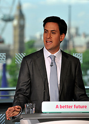 © licensed to London News Pictures. LONDON, UK.  11/07/11. Ed Miliband gives his monthly press conference at The Royal Festival Hall. He was joined by Ivan Lewis the Shadow Culture Secretary to take questions on the News of The World story. Mandatory Credit Stephen Simpson/LNP