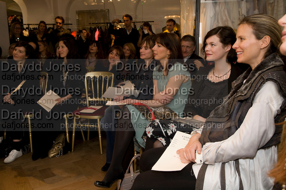 FRONT ROW INC: SHEHERAZADE GOLDSMITH;  SAMANTHA CAMERON;JASMINE GUINNESS; JANE GOTTSCHALK The Launch of the Lanvin store on Mount St. Presentation and cocktails.  London. 26 March 2009