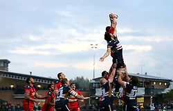 A line out is fought for by Bristol Rugby and Doncaster Knights - Mandatory by-line: Robbie Stephenson/JMP - 18/05/2016 - RUGBY - Castle Park - Doncaster, England - Doncaster Knights v Bristol Rugby - Greene King IPA Championship Play-off Final - First leg
