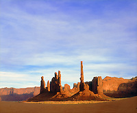 I took this classic southwest photo of Monument Valley sandstone formations with my old school sheet film camera.  My high resolution image of this rock pillar works great scanned for the digital age.