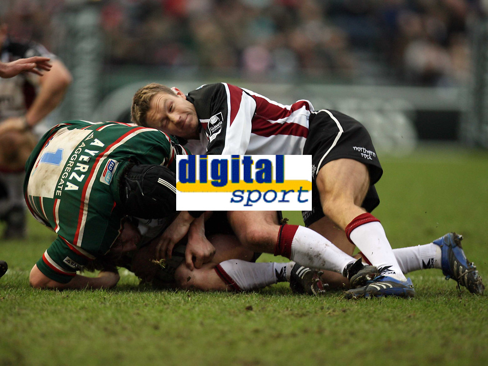 Photo: Rich Eaton.<br /> <br /> Leicester Tigers v Newcastle Falcons. Guinness Premiership. 27/01/2007. Jonny Wilkinson of Newcastle Falcons makes an impact within seconds of coming on late in the first half