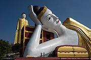 Giant reclining and standing buddhas, Monywa