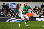 Picture by Paul Chesterton/Focus Images Ltd.  07904 640267.02/01/12.Steve Morison of Norwich scores his sides 2nd goal and celebrates during the Barclays Premier League match at Loftus Road Stadium, London.