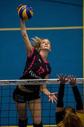 09-04-2016 NED: SV Dynamo - Flamingo's 56, Apeldoorn<br /> Flamingo's doet een goede stap naar het kampioenschap in de Topdivisie. Dynamo wordt met 3-0 verslagen / Nynke Rovers #12 of Flamingo