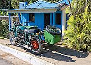 Motorcycle in Sumidero, Pinar del Rio, Cuba.