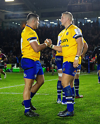 Lewis Boyce and Jack Walker of Bath Rugby - Mandatory byline: Patrick Khachfe/JMP - 07966 386802 - 23/11/2019 - RUGBY UNION - The Twickenham Stoop - London, England - Harlequins v Bath Rugby - Heineken Champions Cup